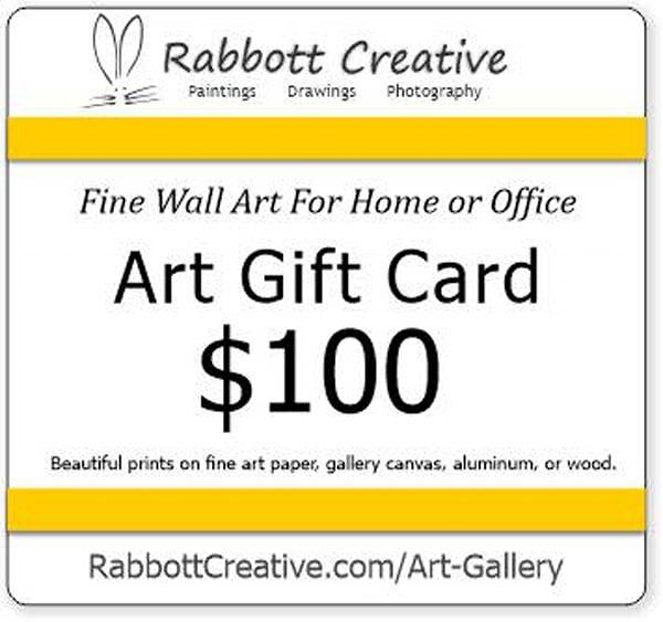 Rabbott $100 Wall Art Gift Card