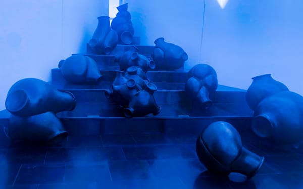 Art Installation In Blue Photography Art | Ron Olcott Photography