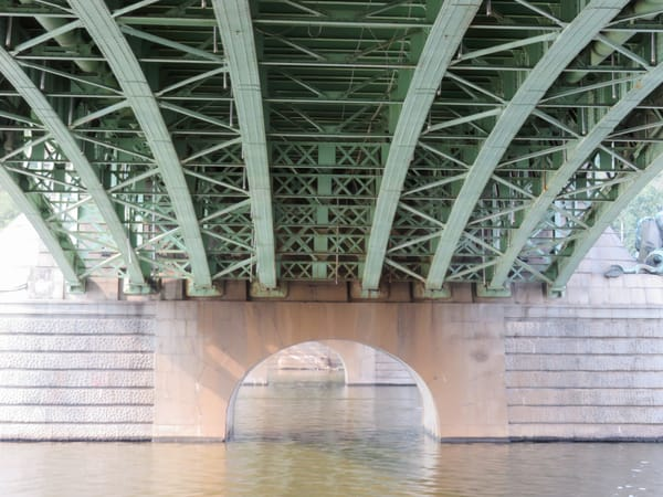 Water Under the Bridge, Vitava River, Prague, Czechia