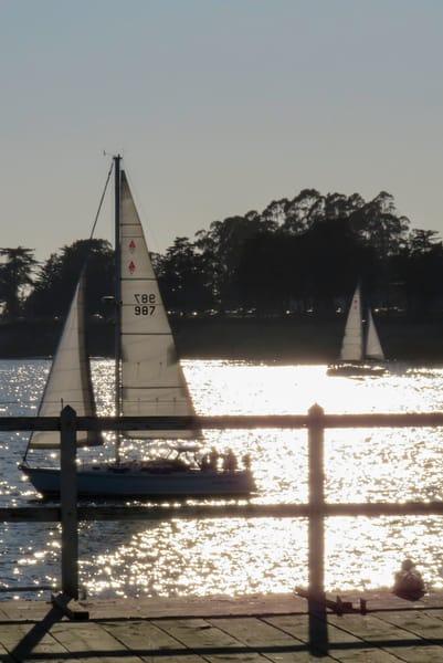 Sailboats at Santa Cruz Municipal Pier, Santa Cruz, CA