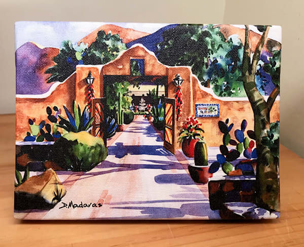 Hacienda Gate II by Madaras Mini Canvas