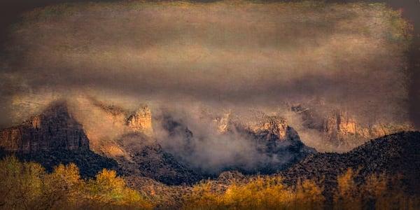 Catalinas Snow 110 Panorama Photography Art | Carol Brooks Parker Fine Art Photography