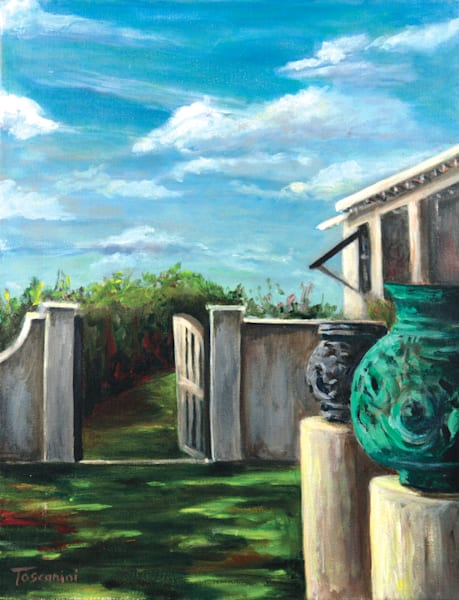 """Garden passage to Wendell's SandyMount Print/Original"" – Fine Art Prints on Canvas, Paper, Metal & More by Daniella Toscanini""."