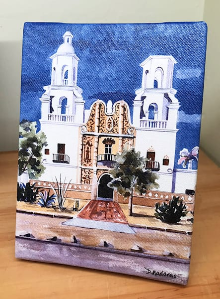 San Xavier Mission Mini Canvas