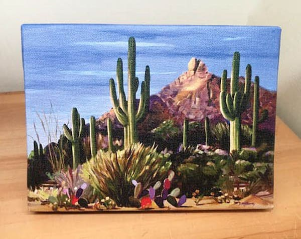 Outdoors Saguaro Cactus Mini Canvas
