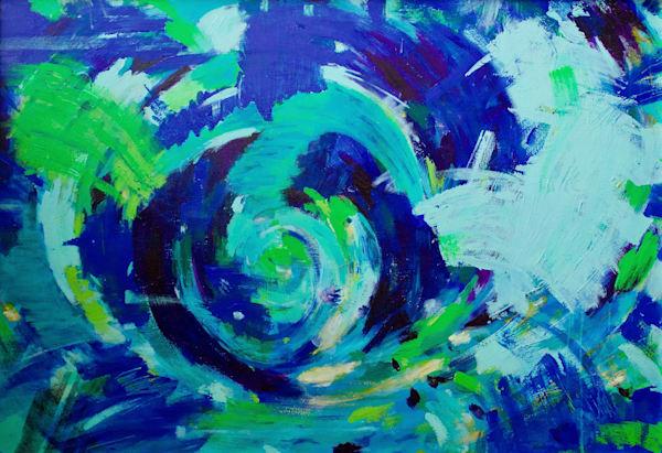 Blue Swirl Art | Lesley Koenig Studio