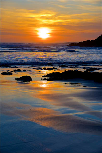 Picture of beautiful sunset at Devil`s Elbow at Heceta Head, Oregon.  Great wall decor for sunset and ocean lovers.
