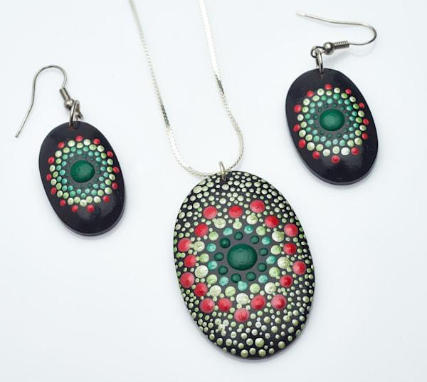 Christmas Necklace + Earrings Set (C)