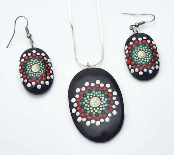 Christmas Necklace + Earrings Set (A)