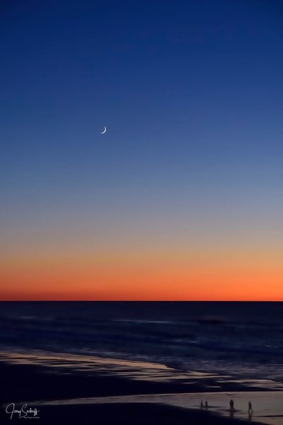 Moon Over Sunset Surf