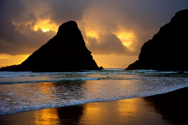 Fine art photograph of a beautiful sunset at Devils Elbow State Park, Oregon.  Great wall decor for ocean lovers.