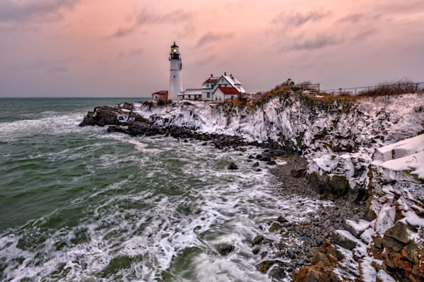 First Snow at Portland Head | Shop Photography by Rick Berk