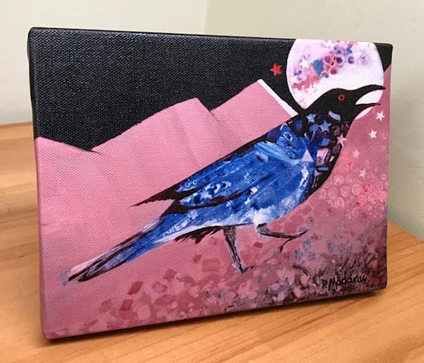 Blackbird Singing in the Dead of Night Mini Canvas by Madaras