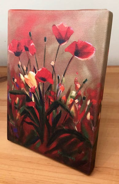 Poppy Love Mini Canvas by Diana Madaras