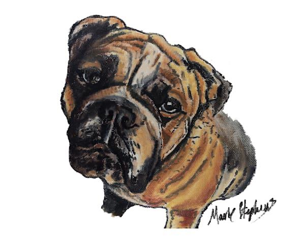 Bulldog Love Art   Marie Stephens Art