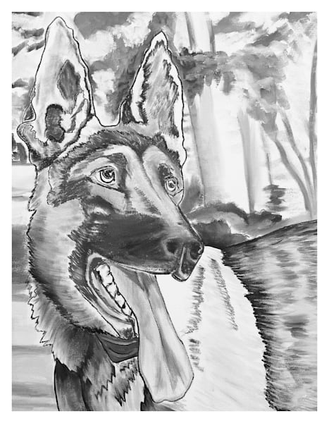 Majestic German Shepherd Fine Art Prints by Marie Stephens Art