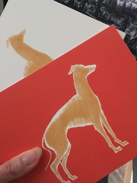 Italian Greyhound 5x7 Pop Art  by Marie Stephens Art