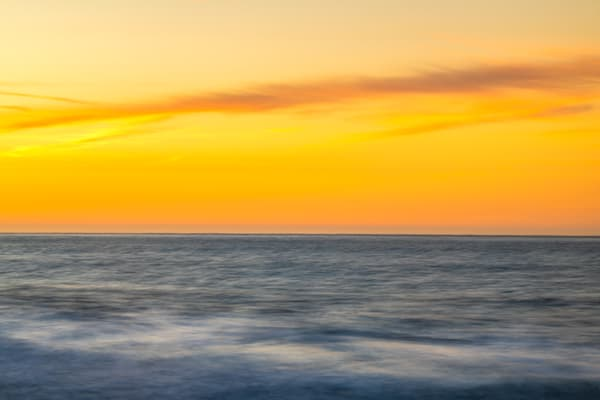 A sunset seascape photograph of the San Francisco Bay