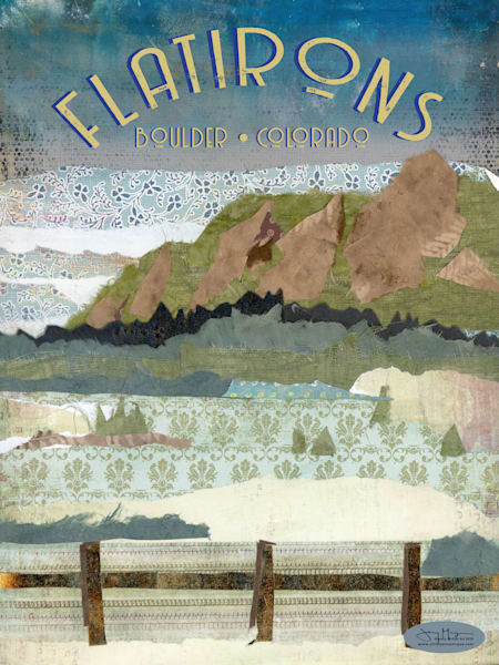 Boulder Colorado FlatIrons - Rock Climbing Art Print | Artist Jenny McGee