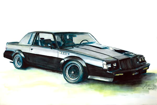 Buick Grand National car watercolor prints