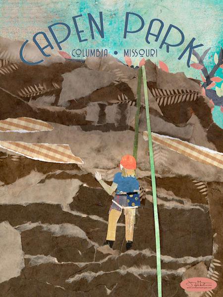 Capen Park - Rock Climbing Art Print | Artist Jenny McGee