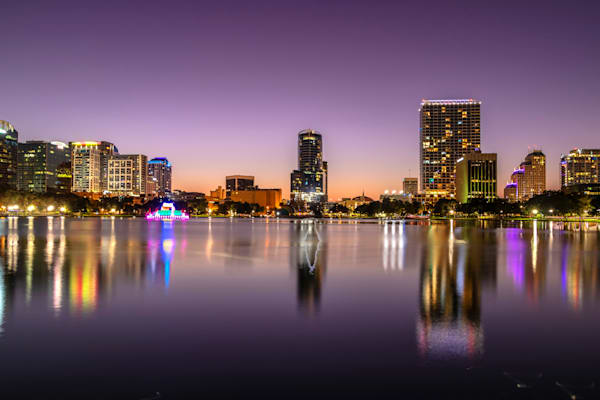 Beautiful Night with the Orlando Skyline - Orlando City Pictures | William Drew
