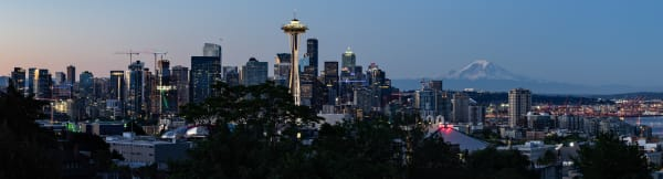 Panoramic view of the Seattle Skyline for your walls