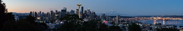 Wide panorama of the Seattle skyline for your walls