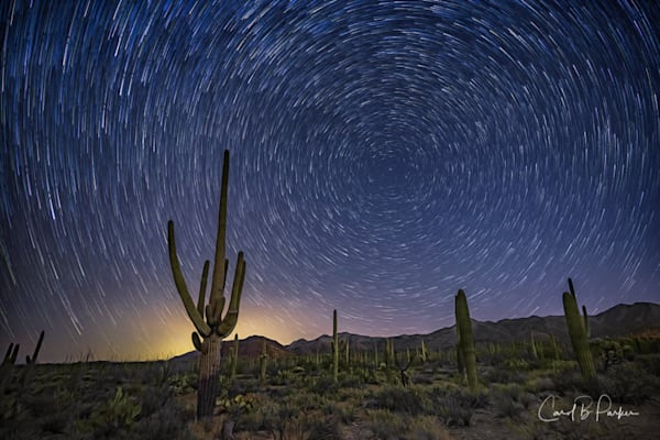 Star Trails in Tucson Mountain Park - Deluxe
