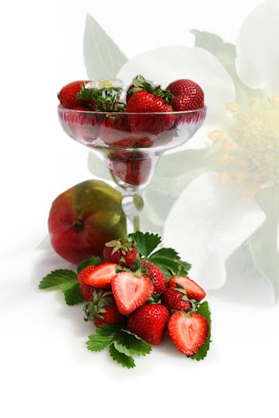Fine Art Strawberries in Margarita glass Culinary photography: Shop prints and more by An Artist's View Photography