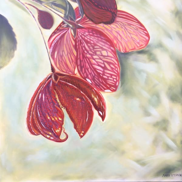 Crab Apple Blossoms Original Oil Painting Art   Marie Stephens Art
