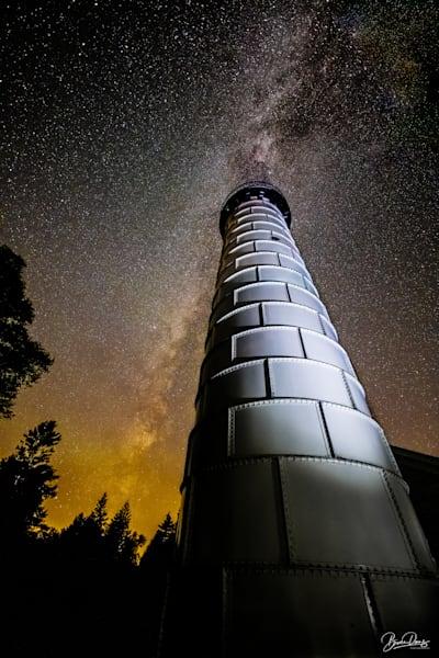 Cana Island Lighthouse And Milky Way Art | brucedanz