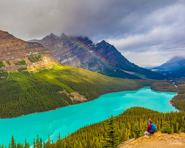 Clearing Storm Over Peyto Lake Photography Art | brucedanz