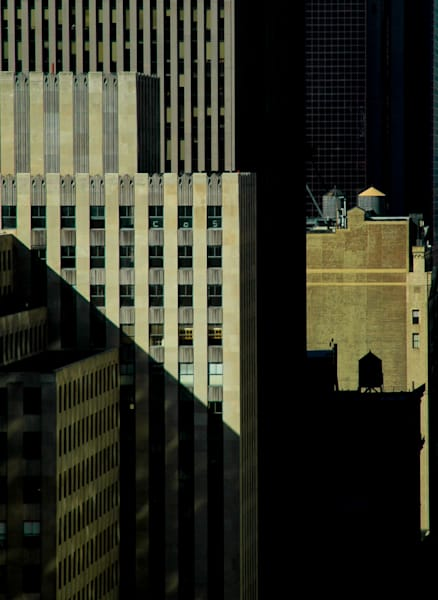 Water Towers Beyond Rockefeller Center, New York City /sold by Ben Asen Photography