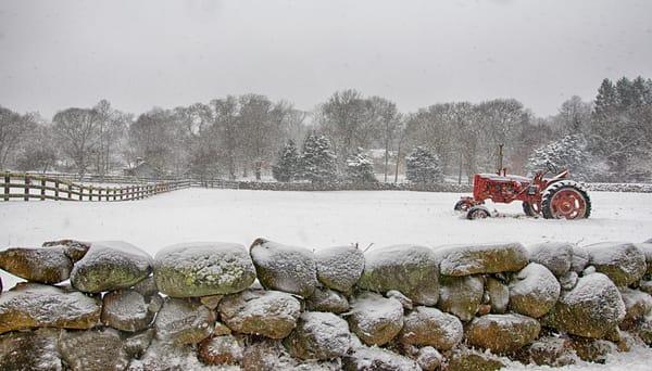 Arrowhead Farm Snowstorm Art | Michael Blanchard Inspirational Photography - Crossroads Gallery