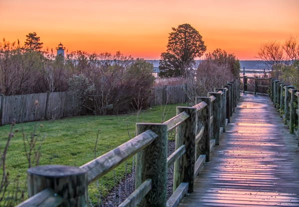 Edgartown Light Winter Walkway Art | Michael Blanchard Inspirational Photography - Crossroads Gallery