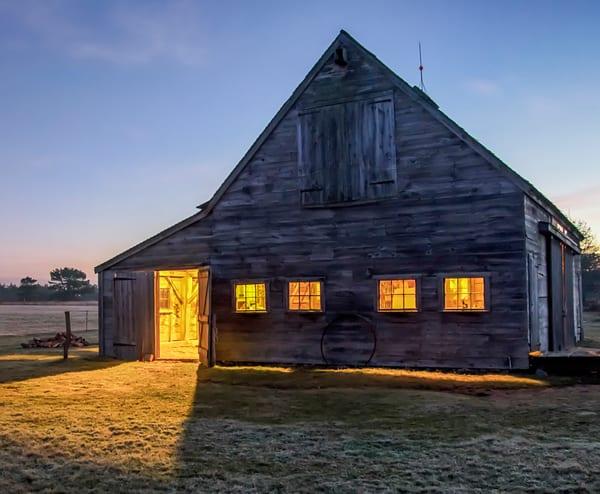 West Tisbury Sunrise Barn Art | Michael Blanchard Inspirational Photography - Crossroads Gallery