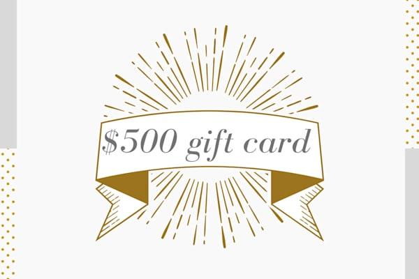 $500 Gift Card to Parima Studio