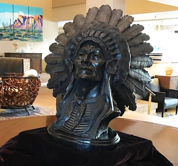 Chief Crazy Horse Bronze Sculpture