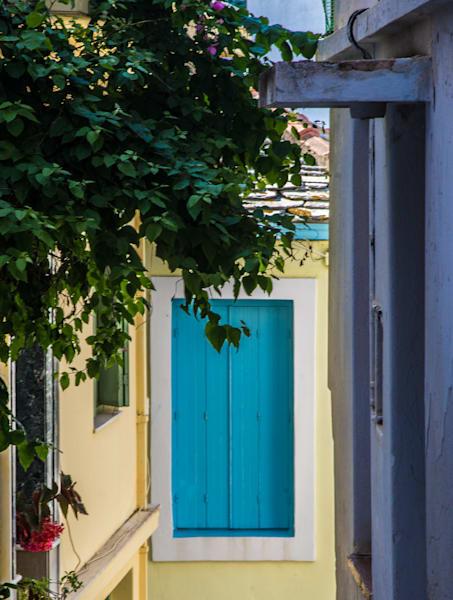 Blue Shutters, Skopelos, Greece/sold by Ben Asen Photography