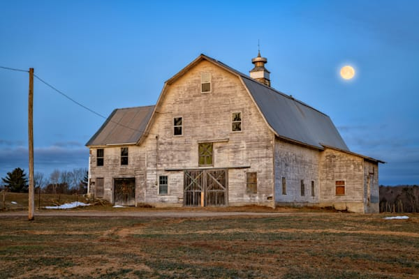 Full Moon Over the Barn | Shop Photography by Rick Berk