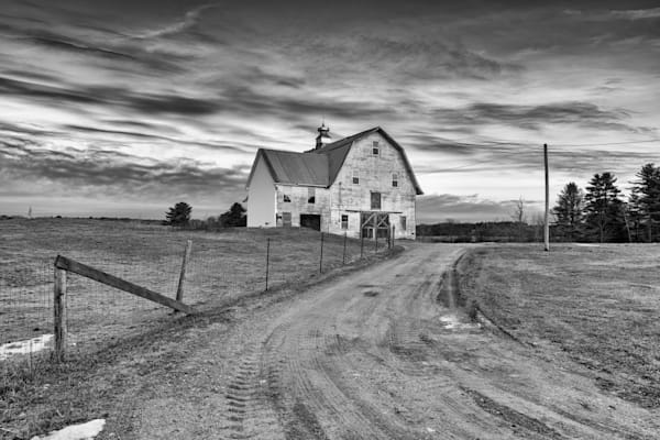 Old Barn, Windham in Black & White | Shop Photography by Rick Berk