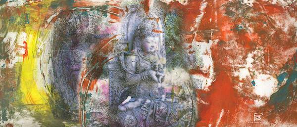 Morning Meditation Scarf, Altar Cloth Or Wall Hanging | Big Vision Art + Design