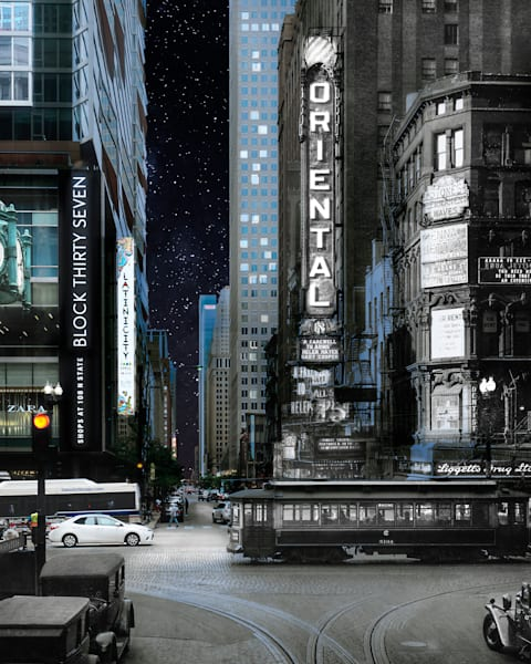 State And Randolph, Nighttime Art | Mark Hersch Photography