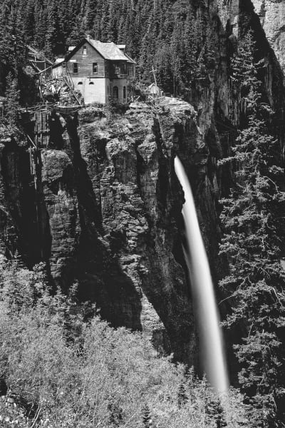 Old power station and Bridalveil Falls