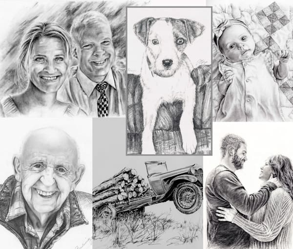 Custom Charcoal Pencil Drawings and Portraits