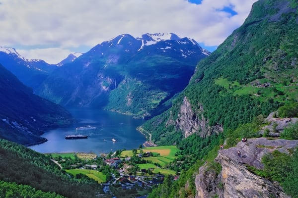 Geiranger Fjord With Cruise Ships Norway Photography Art | ePictureGallery