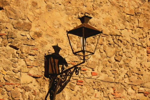 Lantern On Old Wall Italy Photography Art | ePictureGallery