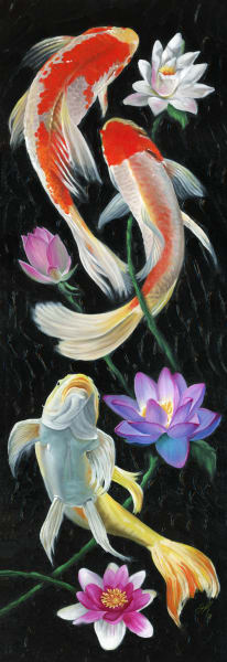 Koi Fish Art | De'Ago Art