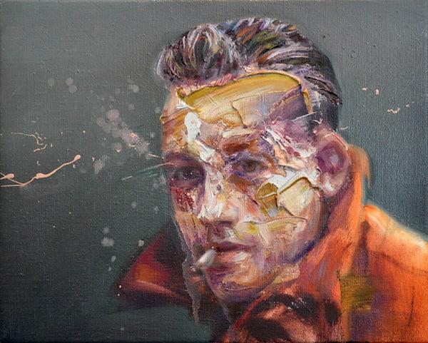 Albert Camus I (Oil On Print) Art | Mathieu Laca